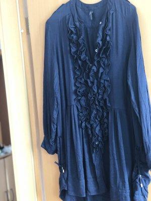 High long Bluse Tunika navy blau ungetragen