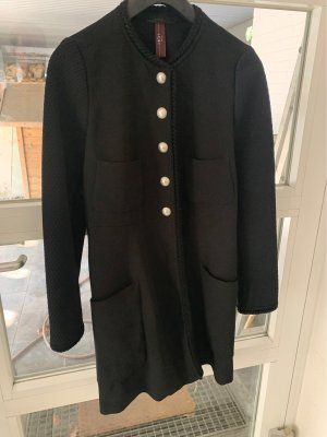 High Frock Coat black-silver-colored