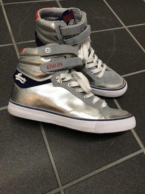 High Plateau Sneaker superdry Silber Gr. 39 wie neu
