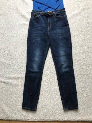 Pinko Jeans a vita alta blu scuro Cotone