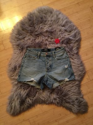 Hollister Pantalón corto de talle alto azul claro