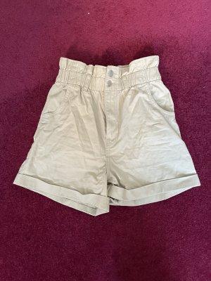 H&M Short taille haute crème-beige clair