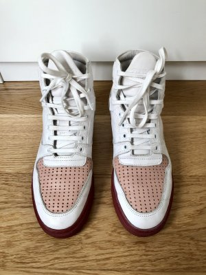High Top Sneaker Filling pieces 36 37 Weiss rot