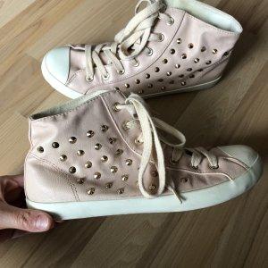 High Top Sneaker mit Nieten in rosa ❤️