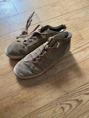 High top Veloursleder Flip Flop Sneakers