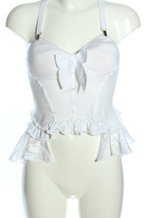 High Use Top gorsetowy biały Elegancki