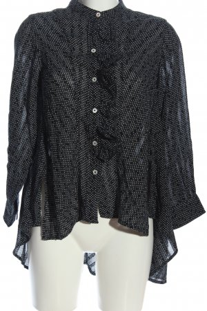 High Use Hemd-Bluse weiß Punktemuster Casual-Look
