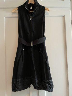 High Use Sukienka z rękawem balonowym czarny Wiskoza