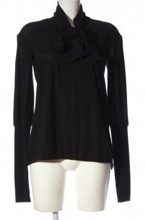 High Use Long-Bluse schwarz Casual-Look