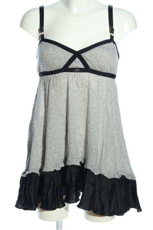 High Use Minikleid hellgrau-schwarz meliert extravaganter Stil