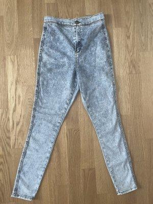 Asos Jeans a vita alta grigio ardesia