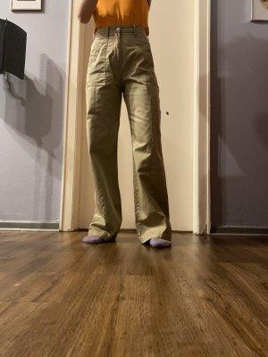 High waist Baumwolle Hose