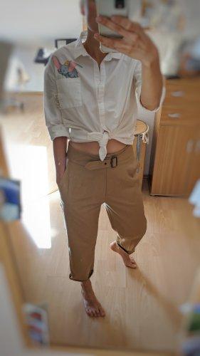 Sisley Spodnie z wysokim stanem Wielokolorowy