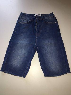 NA-KD Pantalón corto de talle alto azul aciano