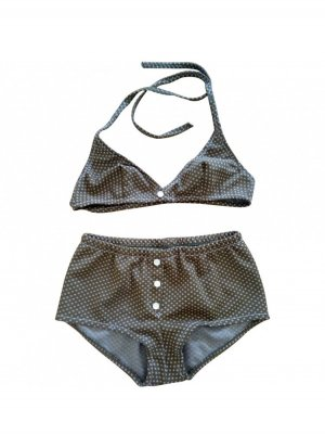 high waist bikini mid rise retro 50s 60s pin up
