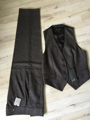 Massimo Dutti High Waist Trousers multicolored wool