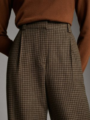 High Waist Bundfaltenhose Massimo Dutti