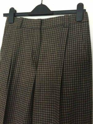 Massimo Dutti High Waist Trousers light brown-dark brown viscose