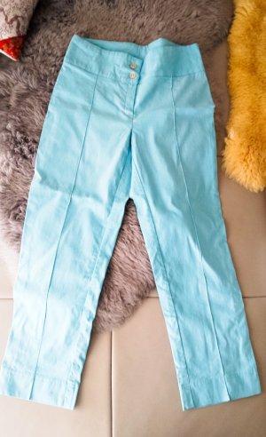 3 Suisses Pantalón capri azul neón tejido mezclado