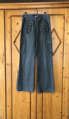Boysen's Pantalone a zampa d'elefante grigio-verde-cachi