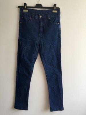 Cheap Monday Jeans taille haute bleu coton