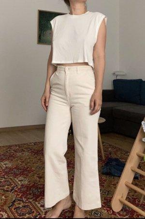 High waist culottes jeans 36 S Creme vintage style 80er 90er