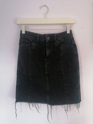 H&M Denim Skirt black-dark grey