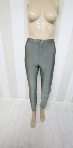 Pantalón de cintura alta gris verdoso-verde pálido