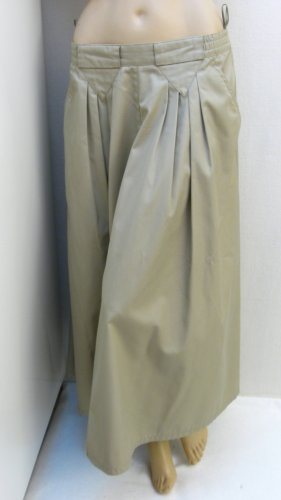 Jupe taille haute beige clair