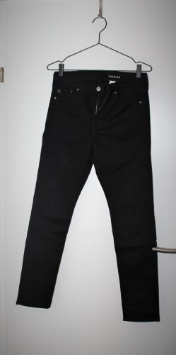 High waist fitting shaping black jeans