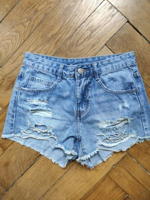 High Waist High Rise Jeans Shorts Hotpants Blogger Vintage