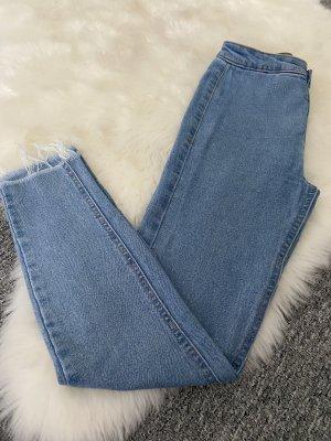 Pull & Bear High Waist Jeans azure-steel blue