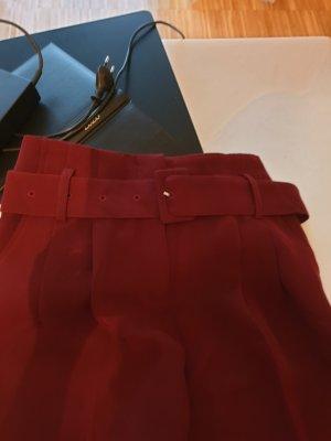 Promod Pantalón de cintura alta rojo amarronado