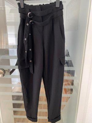 Bershka Peg Top Trousers black