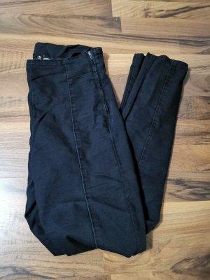 H&M Pantalón de cintura alta negro-taupe