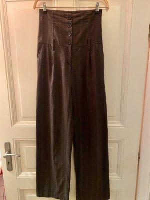 Hoge taille broek grijs-bruin