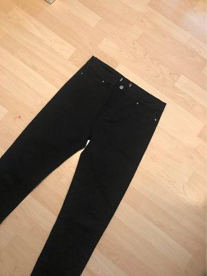 100% Fashion Hoge taille broek zwart