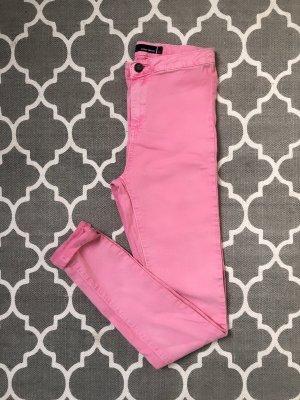 Spodnie z wysokim stanem różowy-różowy