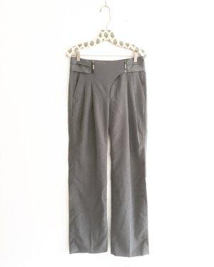 high waist hose  / grau / vintage / businesslook / classy / stoffhose / bundfalten