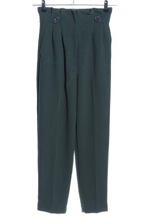 H&M Pantalón de cintura alta verde bosque Poliéster