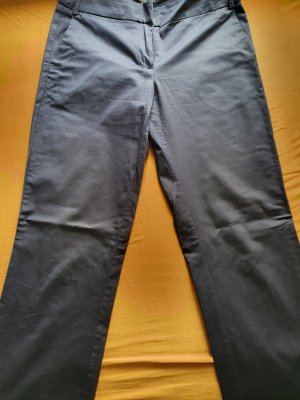 Manguun Spodnie z wysokim stanem ciemnoniebieski Elastan