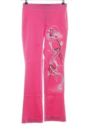 Rossella Goldschmied High-Waist Hose pink Motivdruck Casual-Look