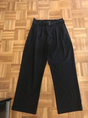 High Waist Hose schwarz mit Gürtel