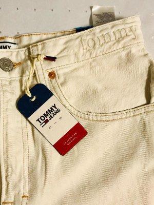 Tommy Jeans Pantalon taille haute beige clair
