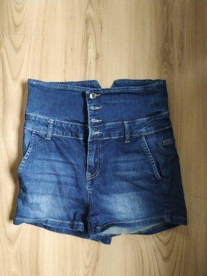 by EMP Short taille haute bleu jean