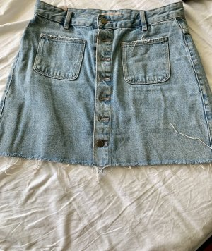 High waist Jean skirt