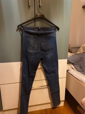 Tally Weijl Jeansy z wysokim stanem stalowy niebieski-ciemnoczerwony