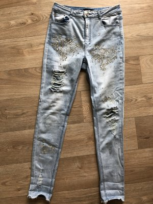 Missguided Jeans a vita alta azzurro