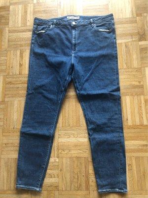 Asos Denim Jeans taille haute bleu