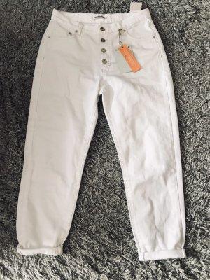 Pull & Bear Jeans boyfriend blanc